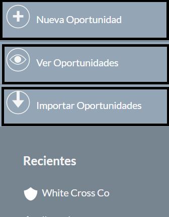 oportunidades venta crm